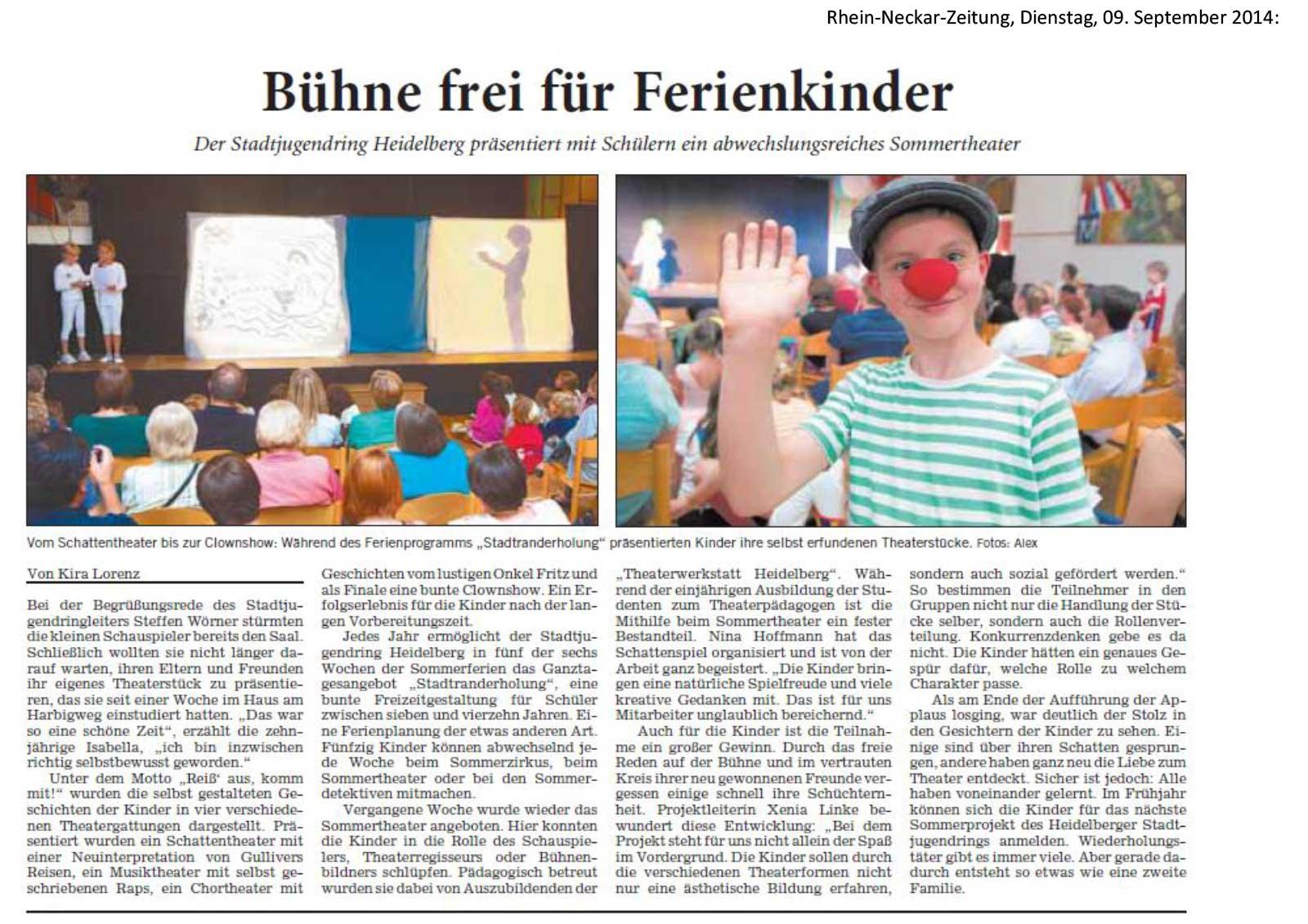 Theaterwerkstatt Heidelberg Theater für Schulen